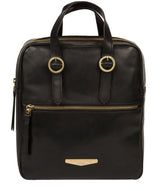 'Delfina' Black Leather Backpack image 1