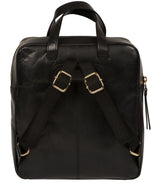'Delfina' Black Leather Backpack image 3