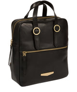 'Delfina' Black Leather Backpack image 5