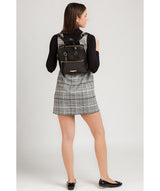 'Delfina' Black Leather Backpack image 2