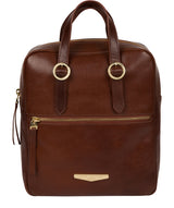 'Delfina' Brown Leather Backpack image 1