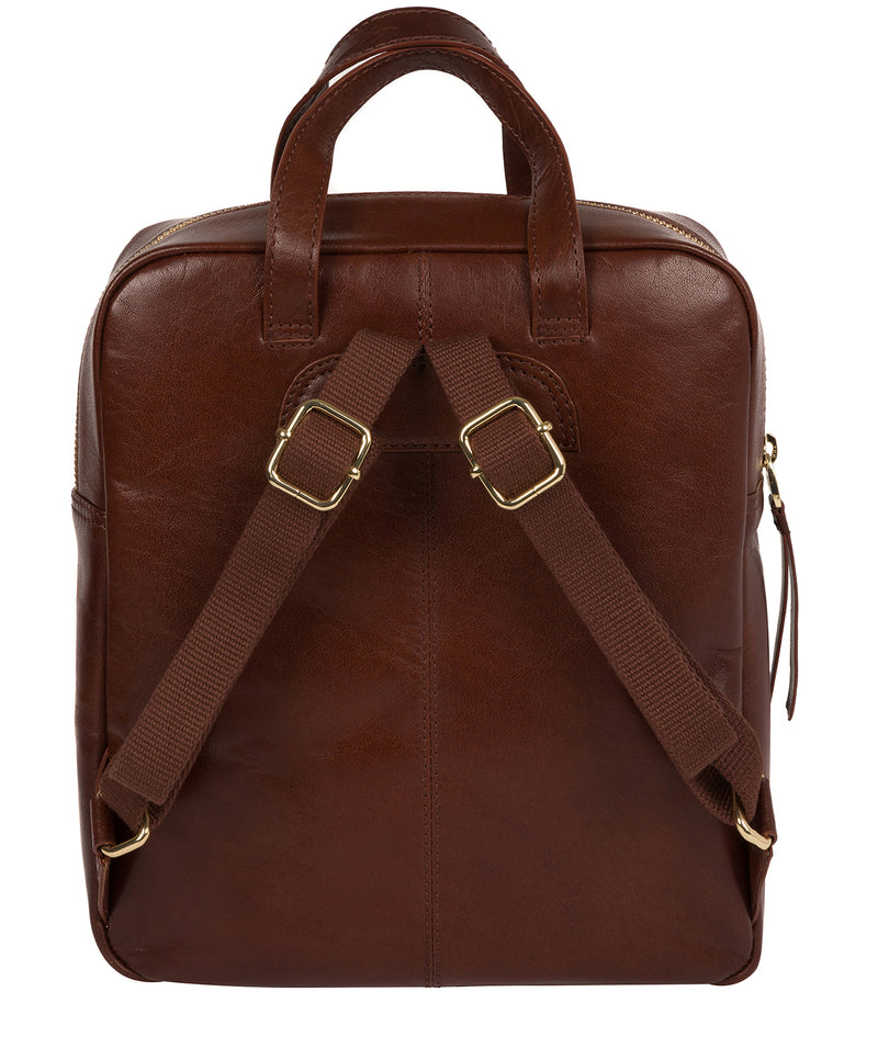 'Delfina' Brown Leather Backpack image 3