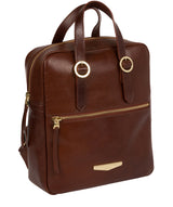 'Delfina' Brown Leather Backpack image 5