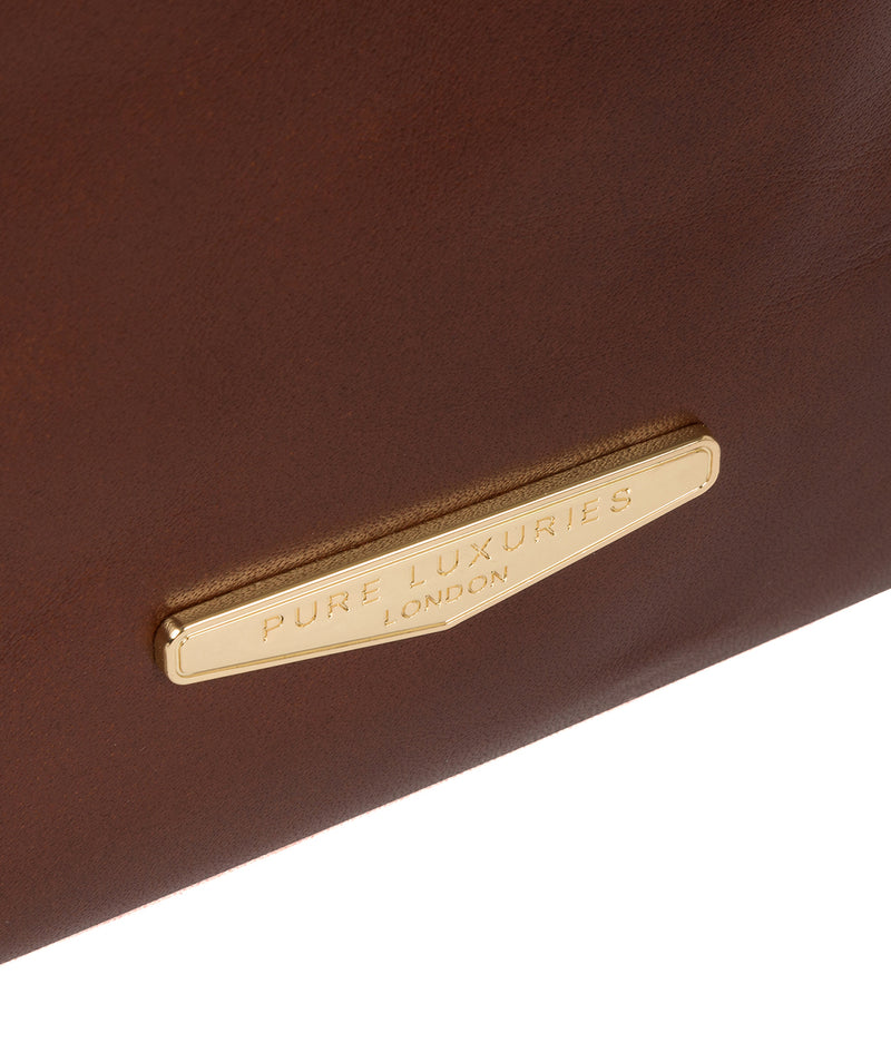 'Delfina' Brown Leather Backpack image 6