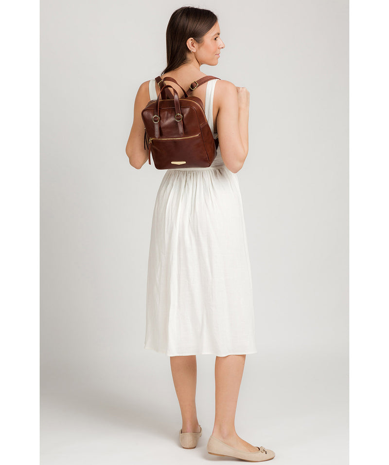 'Delfina' Brown Leather Backpack image 2