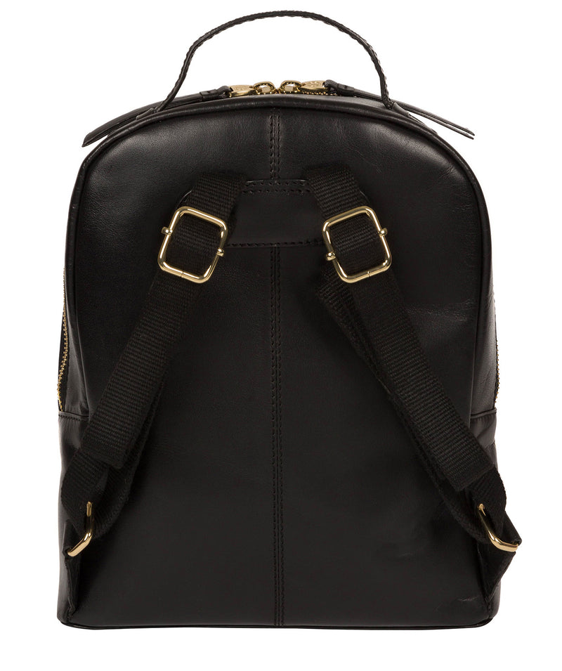 'Natala' Black Leather Backpack image 3