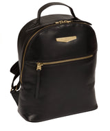 'Natala' Black Leather Backpack image 5