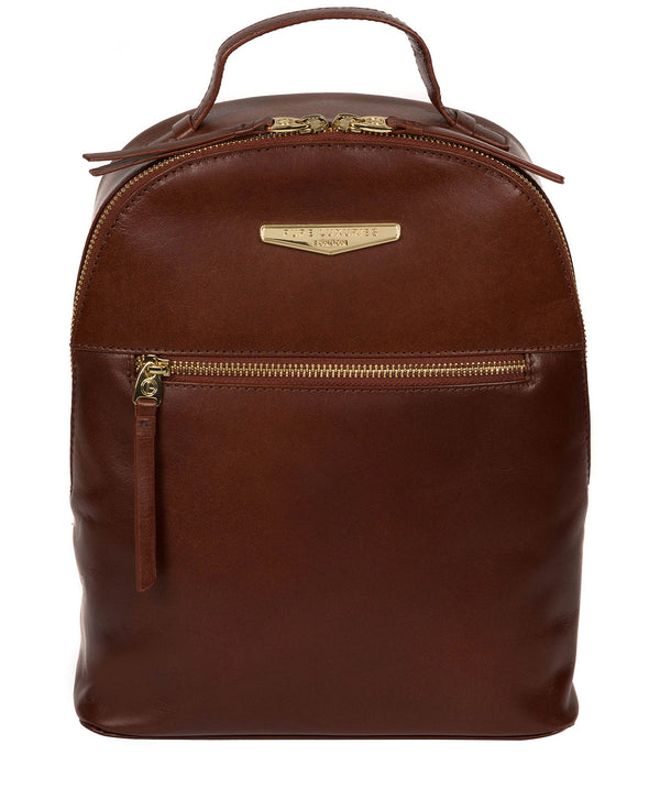 'Natala' Brown Leather Backpack image 1