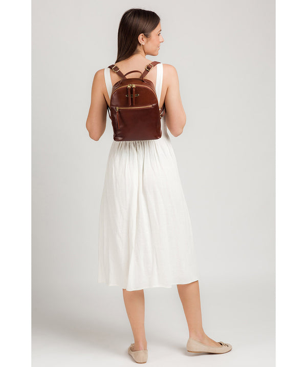'Natala' Brown Leather Backpack image 2