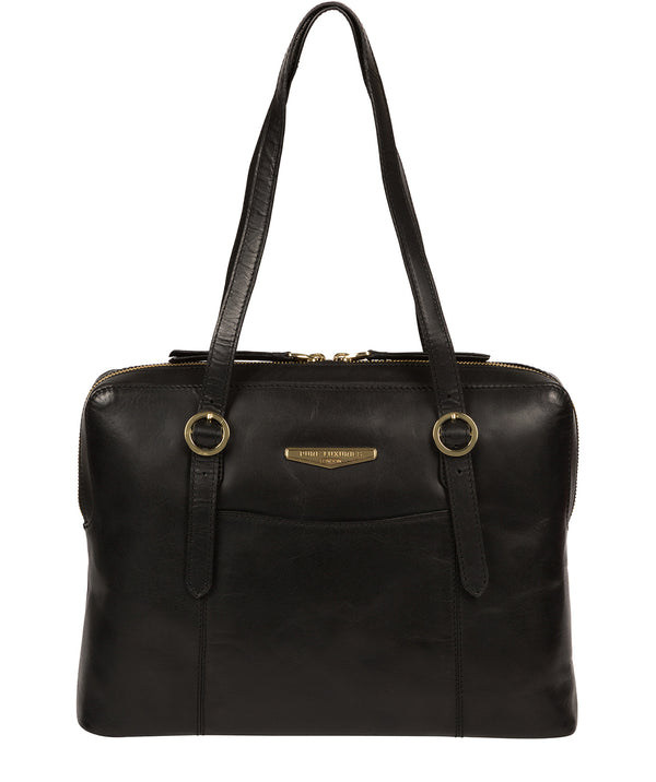'Ornella' Black Leather Handbag image 1