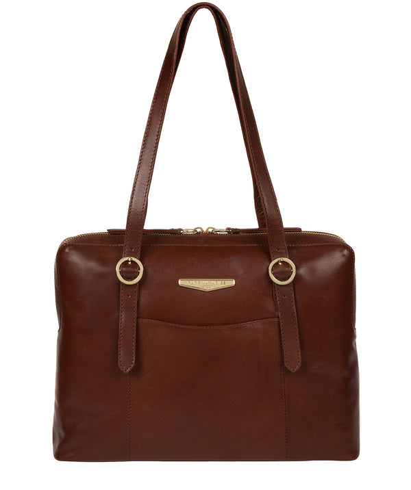 'Ornella' Brown Leather Handbag image 1
