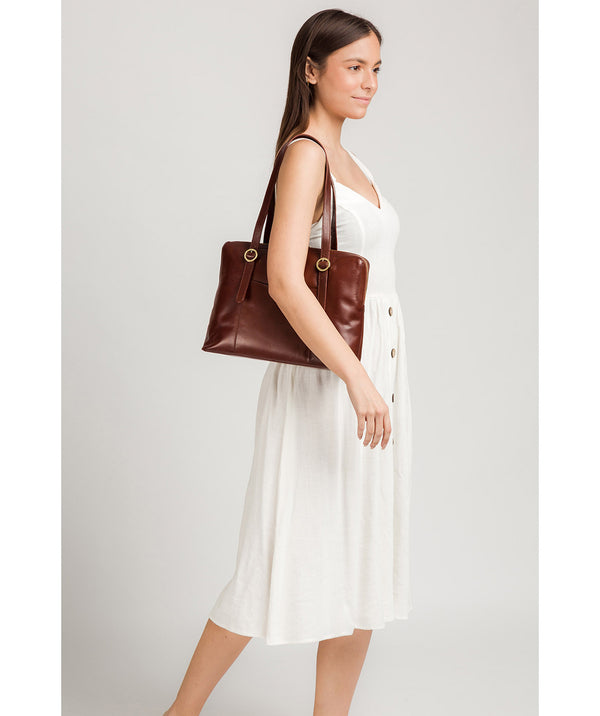 'Ornella' Brown Leather Handbag image 2