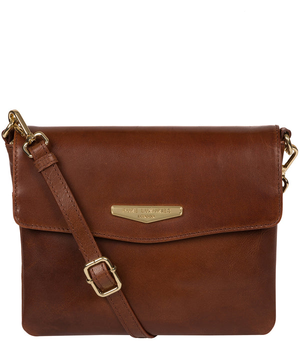 'Valeria' Brown Leather Cross Body Bag image 1