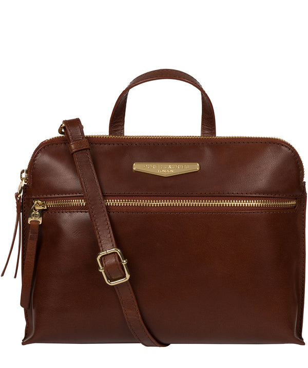 'Lauretta' Brown Leather Cross Body Bag image 1