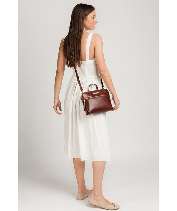 'Lauretta' Brown Leather Cross Body Bag image 2