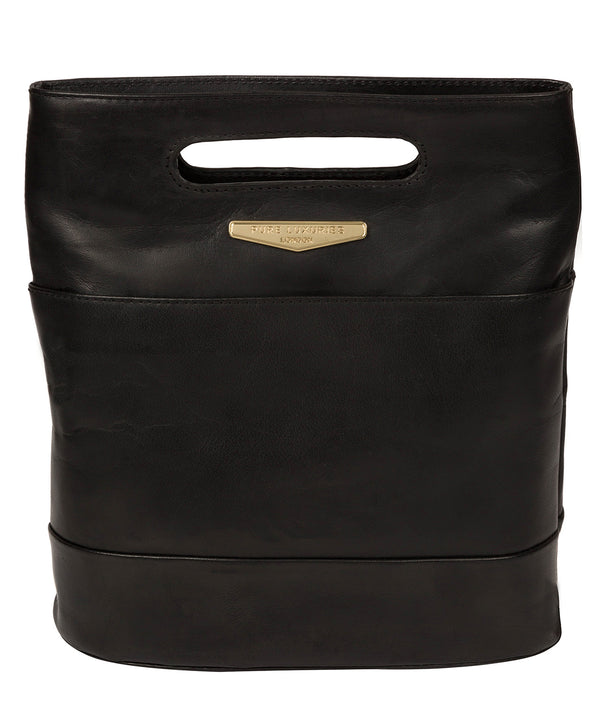 'Margherita' Black Leather Backpack image 1