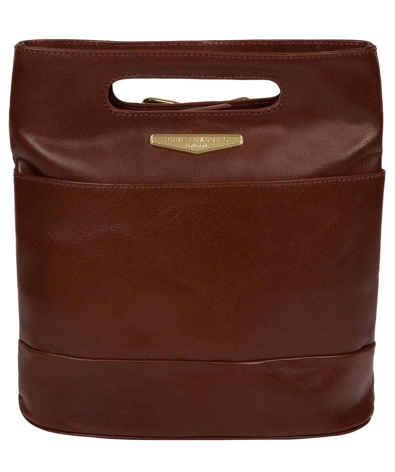 'Margherita' Brown Leather Backpack image 1
