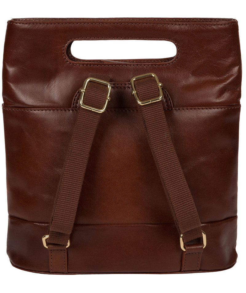 'Margherita' Brown Leather Backpack image 3