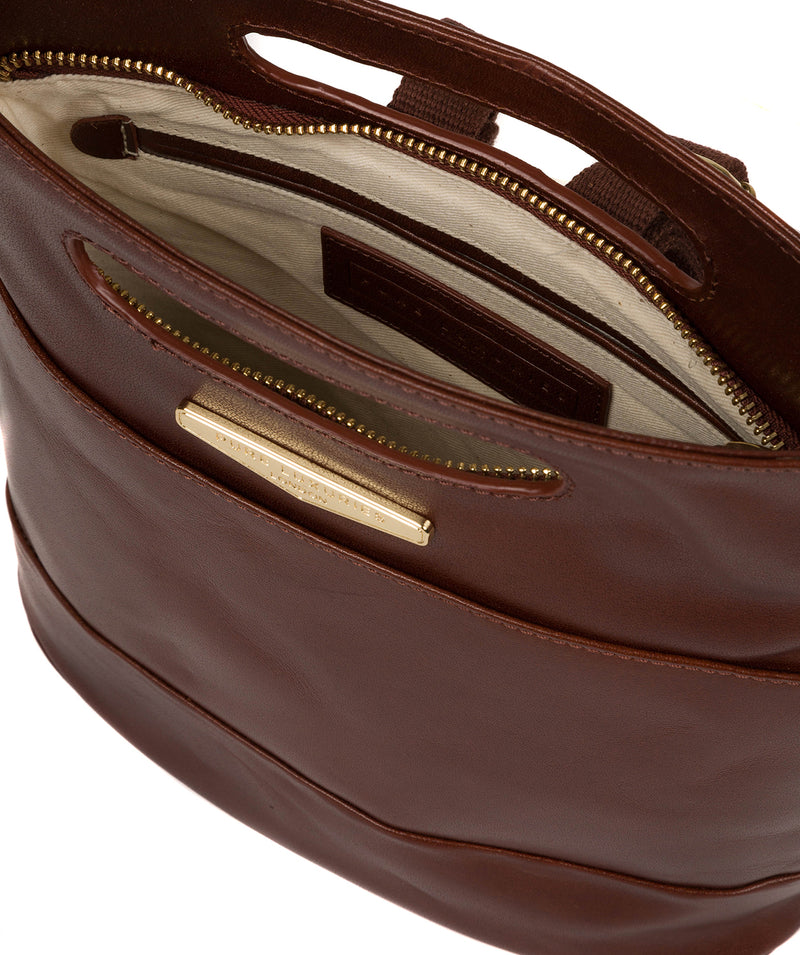 'Margherita' Brown Leather Backpack image 4