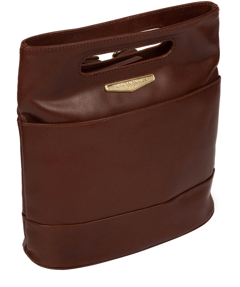 'Margherita' Brown Leather Backpack image 5