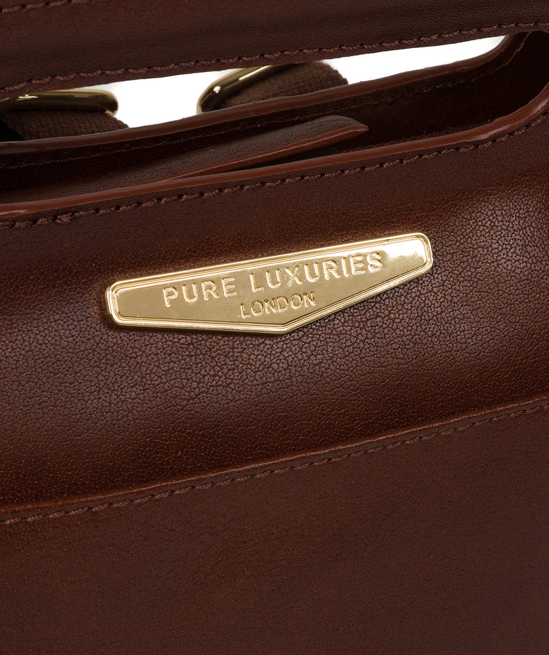'Margherita' Brown Leather Backpack image 6