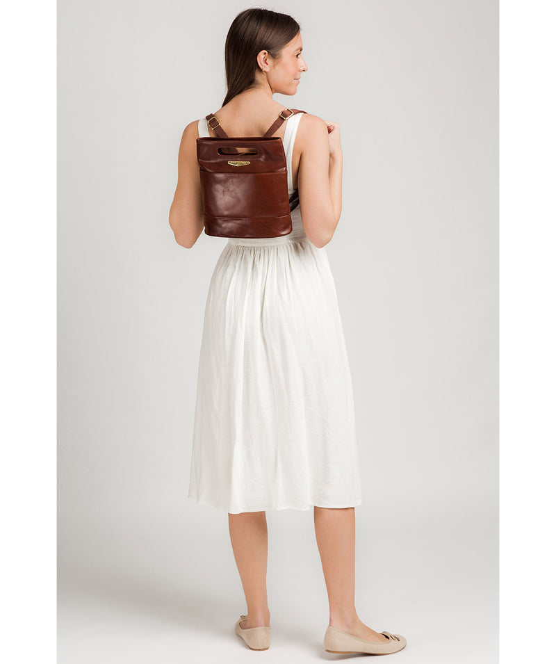 'Margherita' Brown Leather Backpack image 2