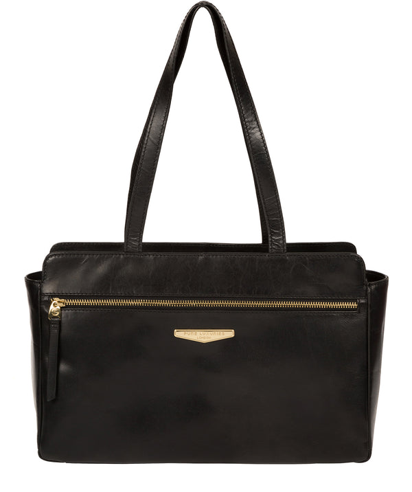 'Alessandra' Black Leather Hand Bag image 1
