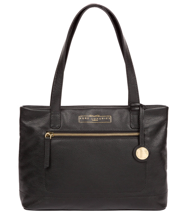 'Adley' Black Leather Handbag image 1