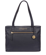 'Adley' Navy Leather Handbag image 1