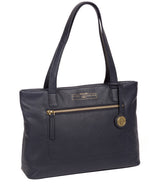 'Adley' Navy Leather Handbag image 5