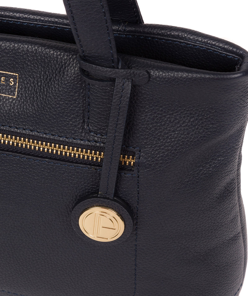 'Adley' Navy Leather Handbag image 6