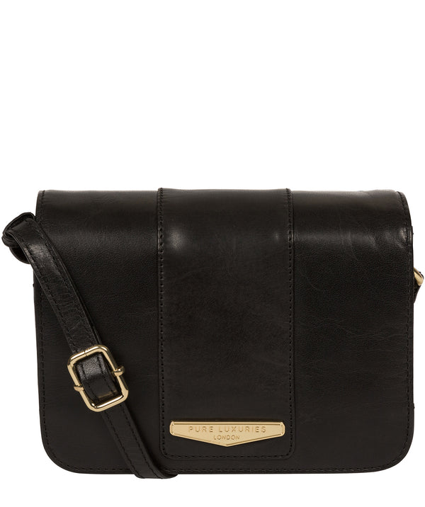 'Rosana' Black Leather Cross Body Bag image 1
