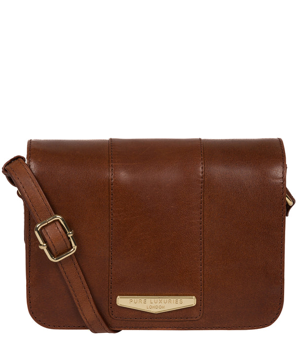 'Rosana' Brown Leather Cross Body Bag image 1