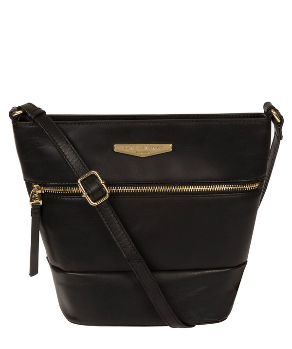 'Caterina' Black Leather Cross Body Bag image 1