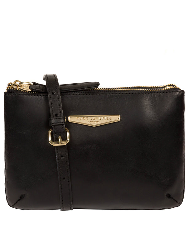 'Gionvanna' Black Leather Cross Body Bag image 1