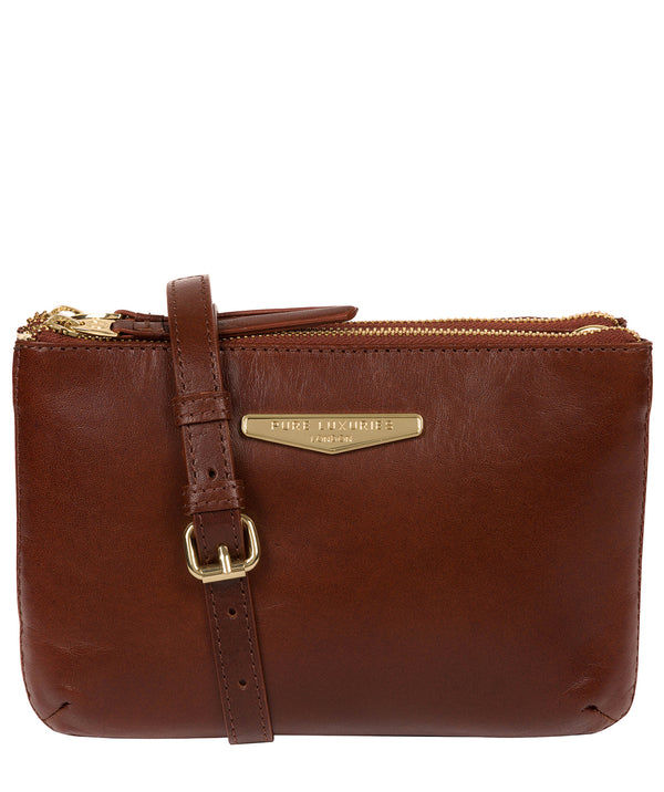 'Gionvanna' Brown Leather Cross Body Bag image 1