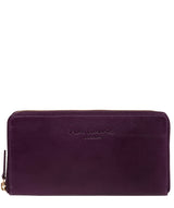 'Marylebone' Purple Leather Purse image 1