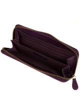 'Marylebone' Purple Leather Purse image 3