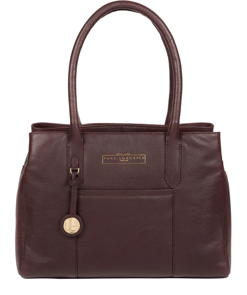 'Chatham' Plum Leather Handbag image 1