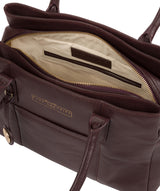'Chatham' Plum Leather Handbag image 4