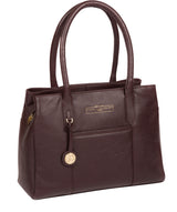 'Chatham' Plum Leather Handbag image 5