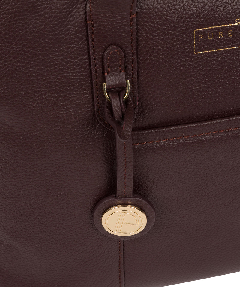'Chatham' Plum Leather Handbag image 6
