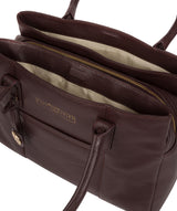 'Chatham' Plum Leather Handbag image 7