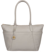 'Everly' Grey Leather Tote Bag image 1