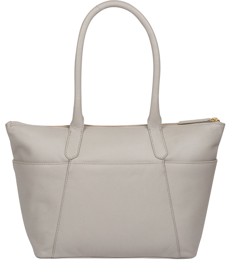 'Everly' Grey Leather Tote Bag image 3
