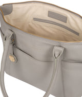 'Everly' Grey Leather Tote Bag image 4
