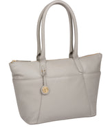 'Everly' Grey Leather Tote Bag image 5