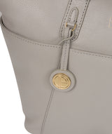 'Everly' Grey Leather Tote Bag image 6