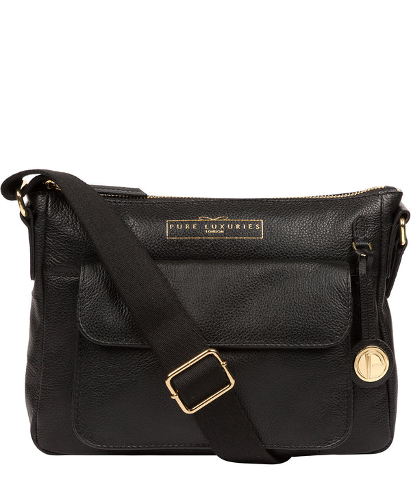 'Tindall' Black Leather Shoulder Bag image 1