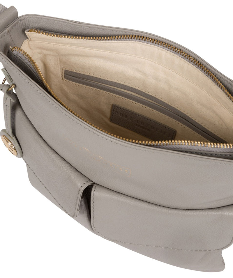 'Soames' Grey Leather Cross Body Bag